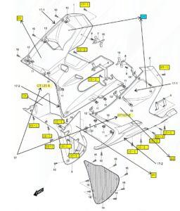 [18] Podložka pěnová (FIG49) – Hyosung GT 125 R E3