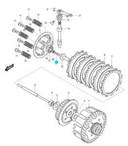[19] Šroub (FIG14) – Hyosung GT 125 N