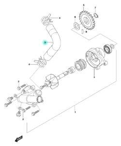 [3] Hadice (vodní čerpadlo) – Hyosung GT 650 N