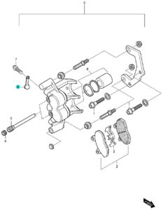 [6] Kryt gumový (FIG52) – Hyosung GV 650