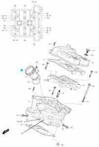 [6] Šroubová spona (FIG01h) – Hyosung GT 650i R K (GT 650 RC)