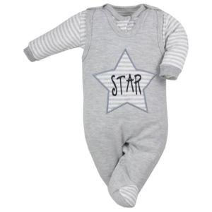 2-dílná kojenecká souprava Koala Star šedá