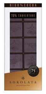 70% extra hořká čokoláda 100g SOKOLATA AGAPITOS