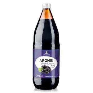 Aronie Premium BIO 100% šťáva 1000 ml Allnature (Balení 5 + 1 Zdarma)