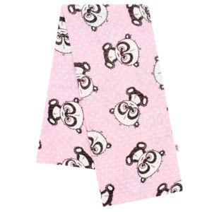 Bavlněná plena s potiskem  New Baby růžová panda s bílou tečkou