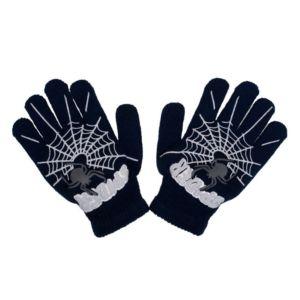 Dětské zimní rukavičky New Baby s pavoukem černé
