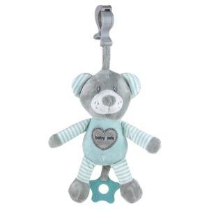 Edukační hrající plyšová hračka s klipem Baby Mix medvěd mátový