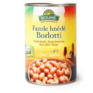 Fazole hnědé Borlotti sterilované 400 g BIO BIOLINIE