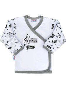 Kojenecká bavlněná košilka New Baby Music
