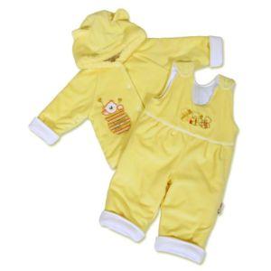 Kojenecká zimní souprava New Baby medvídek žluto-bílá