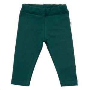 Kojenecké bavlněné legíny New Baby Leggings tmavě zelené