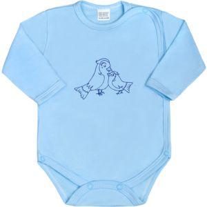 Kojenecké body celorozepínací New Baby Malá Zvířátka modré