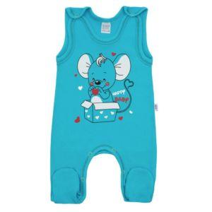 Kojenecké dupačky New Baby Mouse tyrkysové