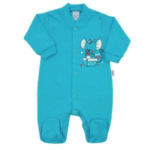 Kojenecký overal New Baby Mouse tyrkysový