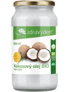 Kokosový olej BIO 950ml bez vůně Zdravý den