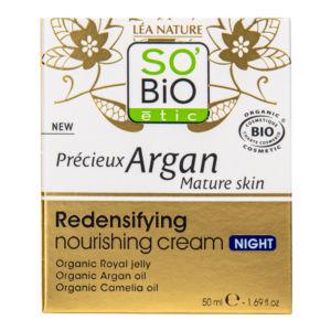 Krém noční výživný a zpevňující 50 ml BIO zralá pleť Precieux argan SO'BIO étic
