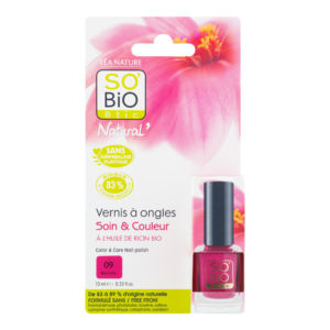 Lak na nehty 09 růžová 10 ml SO'BIO étic