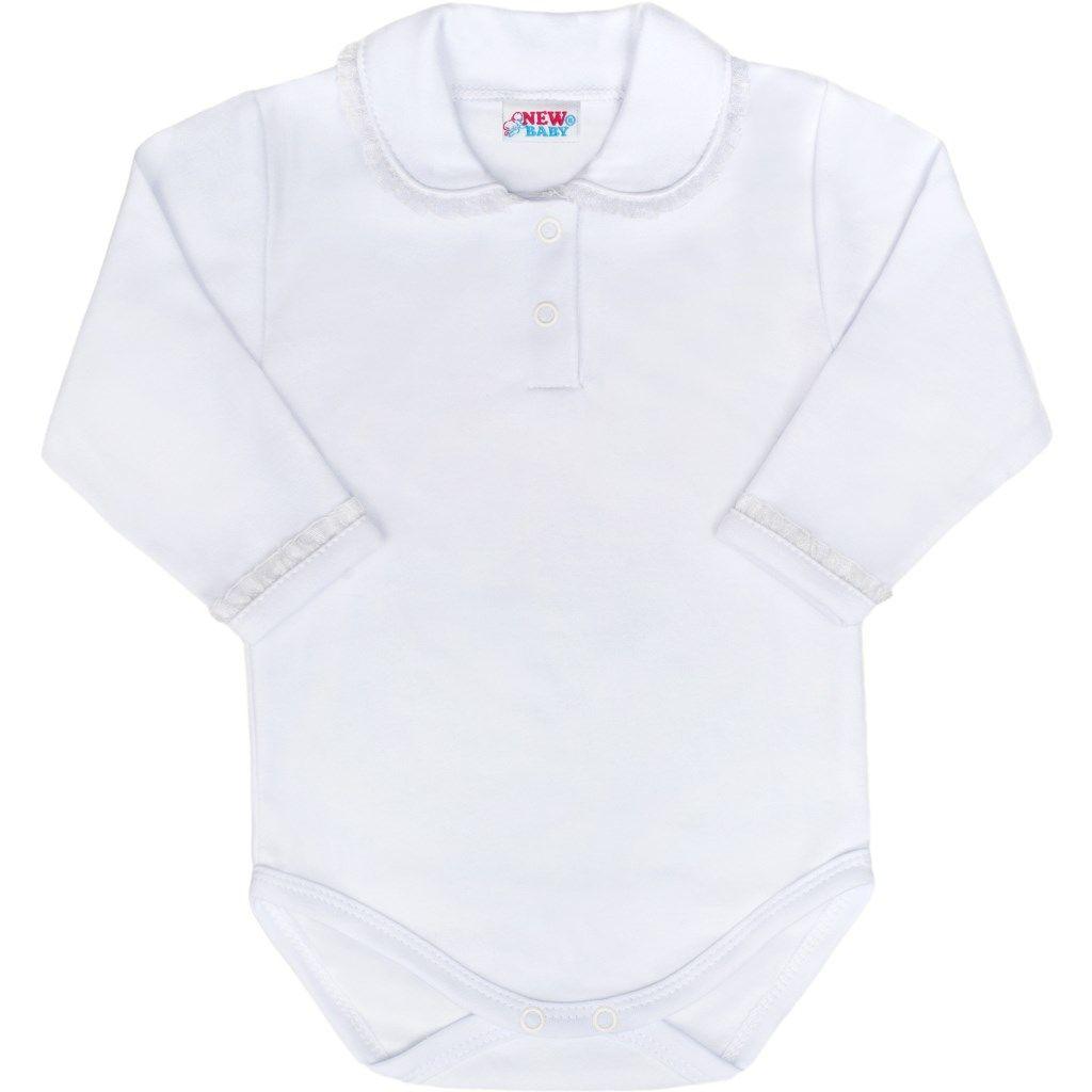 Luxusní bavlněné kojenecké body New Baby Princess bílé