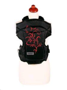 Nosítko Womar Zaffiro Butterfly černé s červenou výšivkou