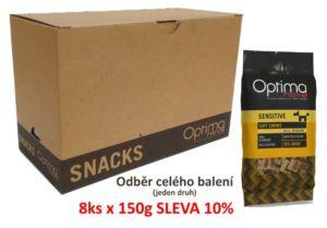 OPTIMAnova FUNCTIONAL snack SENSITIVE Duck 150g (BOX 8 ks)