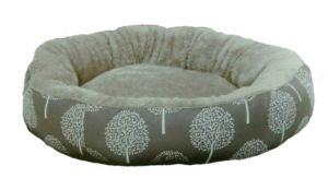 Pelíšek JUKO plyš-kruh, vzor strom L 73x12cm-14126