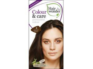 Přírodní dlouhotrvající barva Středně hnědá 4 100ml Hair Wonder