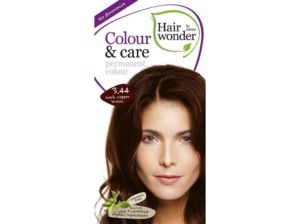 Přírodní dlouhotrvající barva tmavě měděná hnědá 3.44 100ml Hair Wonder