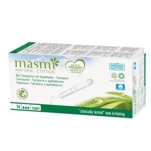 Tampóny z organické bavlny s aplikátorem Super Masmi