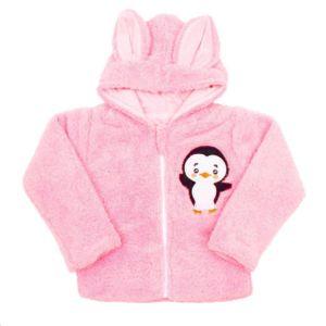 Zimní dětská mikina New Baby Penguin růžová