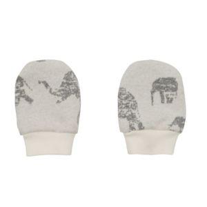 Zimní kojenecké rukavičky Baby Service Sloni šedé