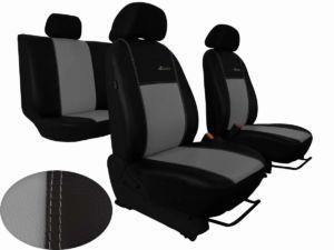 Autopotahy CITROEN JUMPER II, 3 místa, stolek, kožené EXCLUSIVE, šedé