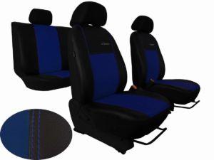 Autopotahy NISSAN PULSAR, se zadní loketní opěrkou, od r. 2014, EXCLUSIVE KŮŽE modré