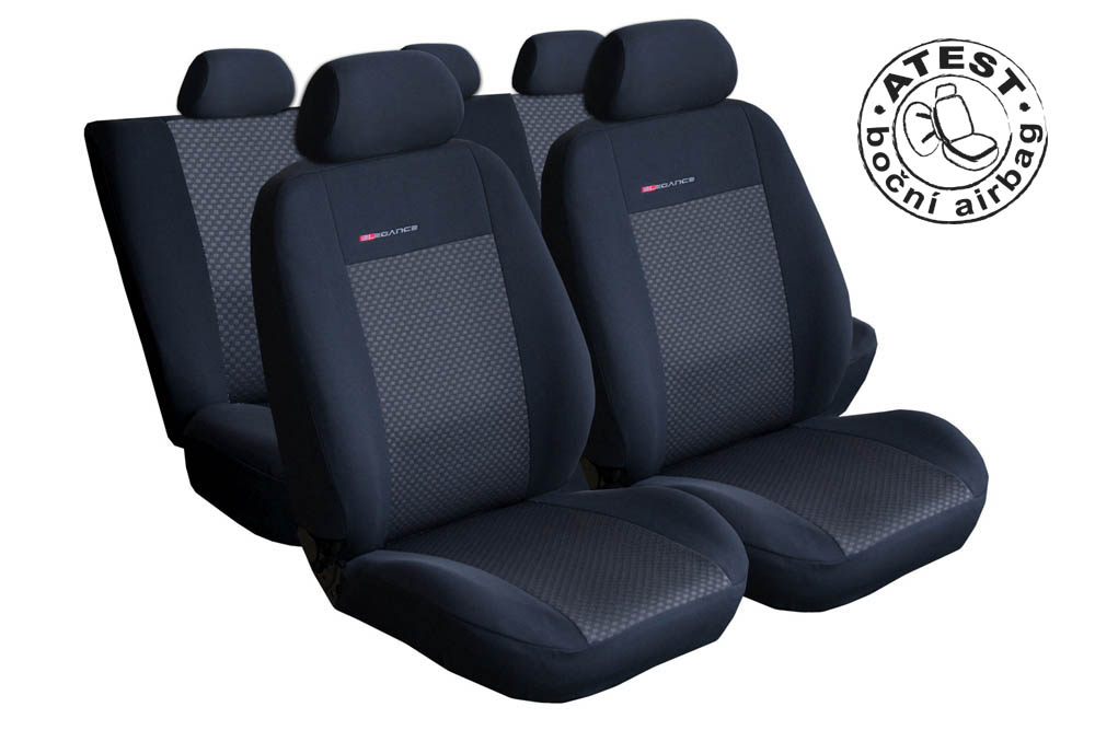 Autopotahy Seat Toledo III, od r. 2005-2012, děl. zad. opěradlo a sedadlo, lok.op., černé