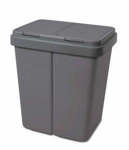 Odpadkový koš Alpha 2x 30litrů- šedá