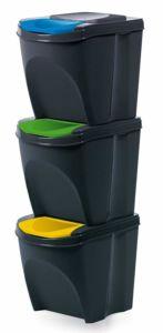 Odpadkový koš se systémem třídění odpadu, 3x 20litrů