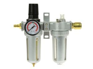 Regulátor tlaku s filtrem a manometrem a přim. oleje, max. prac. tlak 1,0MPa GEKO