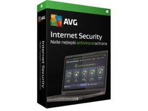 Antivirová ochrana AVG Internet Security pro domácího i firemního uživatele na 1 zařízení a na 12 měsíců – krabicová verze