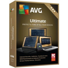 Antivirová ochrana AVG Ultimate-s platností podpory na 1 rok ( obsahuje Internet Security Unlimited a TuneUp Unlimited ) – krabicová verze