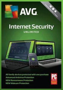 Antivirová ochrana AVG Internet Security – Unlimited (maximálně pro 10 zařízení) s platnou podporou na 12 měsíců – krabicová verze