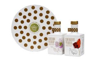 Nobleza del Sur limitovaná edice Round Case – dárkové balení prémiového extra panenského olivového oleje 2×350 ml