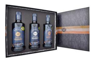 Dárkové balení prémiových olivových olejů Arbequina, Picual a Cornicabra od Casas de Hualdo (3x 500 ml)