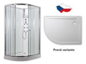 ARTTEC SIRIUS – masážní sprchový box model 4 clear pravá