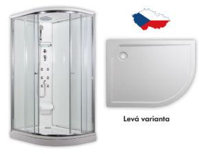 ARTTEC SIRIUS – masážní sprchový box model 5 clear levá