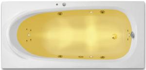 ARTTEC RHEY SURF + CHROMO 160 x 75 hydromasážní akrylátová vana