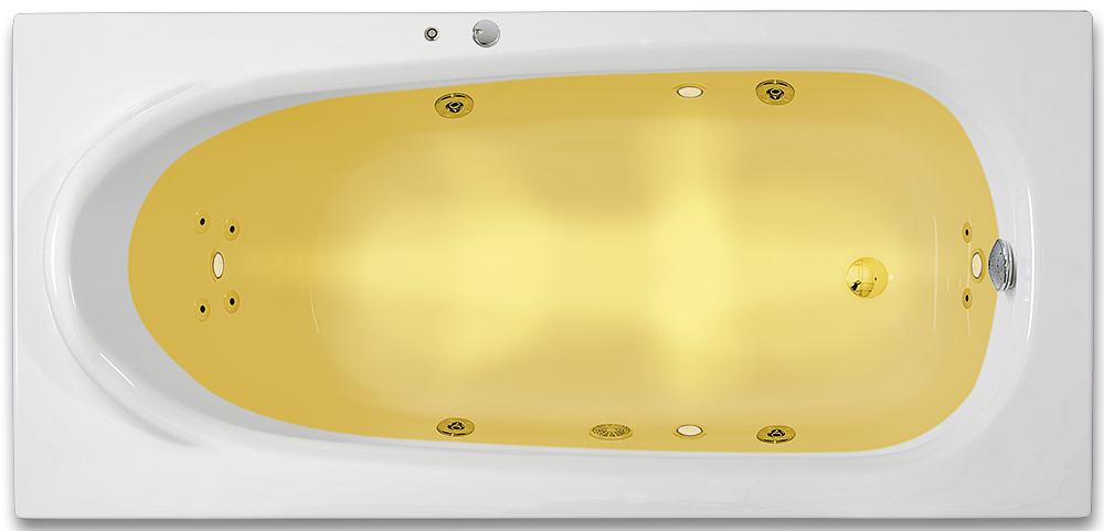 ARTTEC RHEY SURF + CHROMO 190 x 80 hydromasážní akrylátová vana