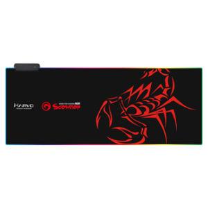 RGB Podložka pod myš, MG10, herní, černá, 800 x 305 mm, 3 mm, Marvo, RGB podsvícení