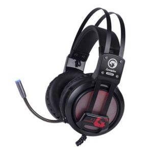 Marvo HG9028, sluchátka s mikrofonem, ovládání hlasitosti, černá, 7.1 surround (virtuálně), podsvícená typ USB