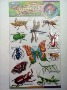 3D nálepky – zvieratá,hmyz 12ks