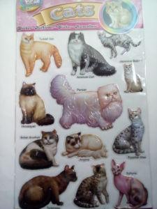 3D nálepky mačky