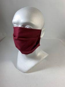 Bavlnené rúško jednofarebné -gumička za hlavu